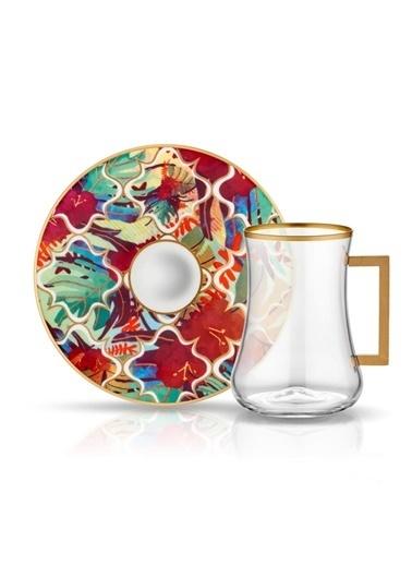 Koleksiyon Dervısh Amazon Tropik 6'Lı Kulplu Çay Seti Renkli